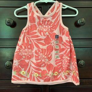 NWT Vintage Baby Gap Tropical Linen Dress 3-6M